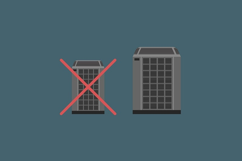 Illustration of two AC units on a gray background, Video - What Are Common Mistakes Made When Purchasing a New AC?