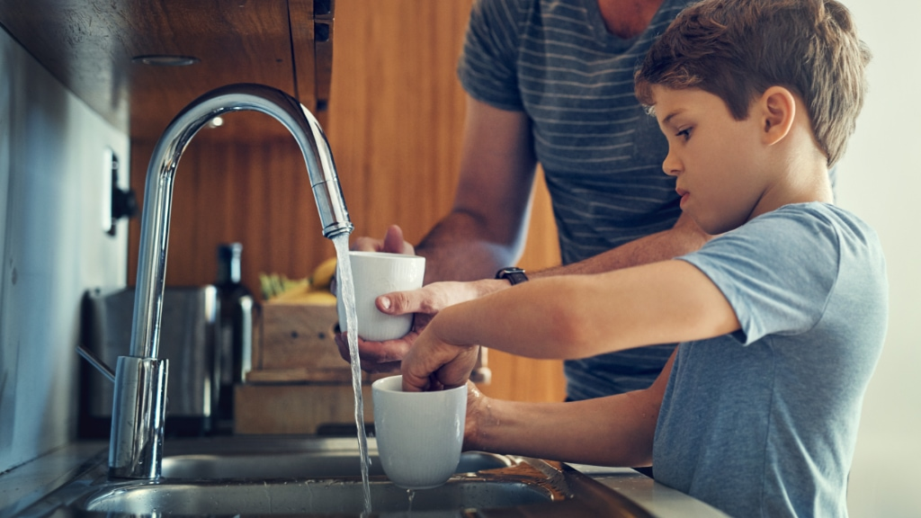 Water heater service.